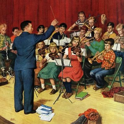 """""""School Orchestra"""", March 22, 1952 by Amos Sewell"""