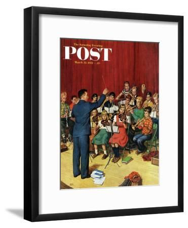 """School Orchestra"" Saturday Evening Post Cover, March 22, 1952"
