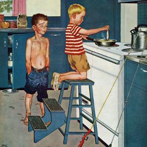 """""""Small Fry"""", July 12, 1958 by Amos Sewell"""