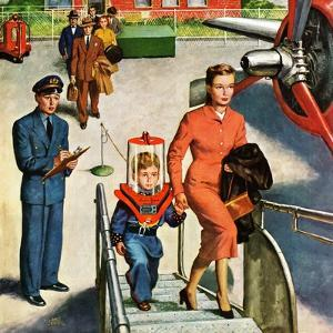 """Space Traveller"", November 8, 1952 by Amos Sewell"