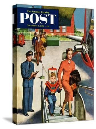 """""""Space Traveller"""" Saturday Evening Post Cover, November 8, 1952"""