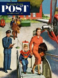 """Space Traveller"" Saturday Evening Post Cover, November 8, 1952 by Amos Sewell"