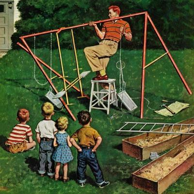 """""""Swing-set"""", June 16, 1956 by Amos Sewell"""