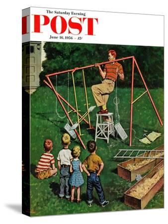 """Swing-set"" Saturday Evening Post Cover, June 16, 1956"