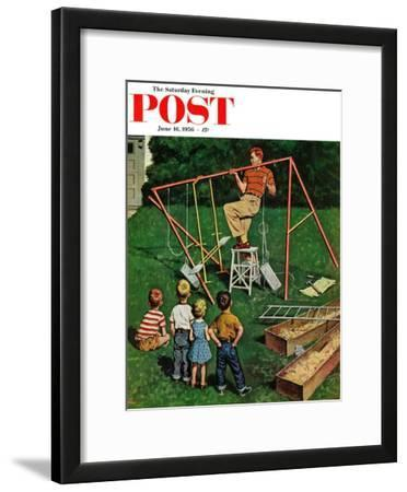 """Swing-set"" Saturday Evening Post Cover, June 16, 1956"