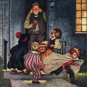 """Tricking Trick-Or-Treaters"", November 3, 1951 by Amos Sewell"