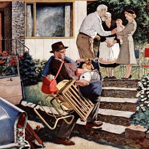 """Visiting the Grandparents"", August 3, 1957 by Amos Sewell"