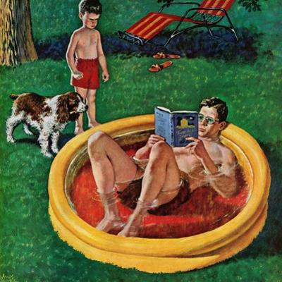 """""""Wading Pool"""", August 27, 1955 by Amos Sewell"""