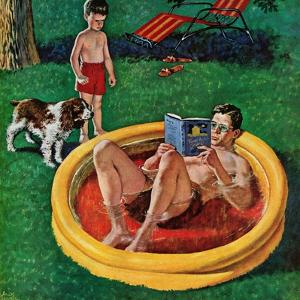 """Wading Pool"", August 27, 1955 by Amos Sewell"