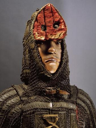 Amour in Steel, Brass, Chain Mail and Leather from Sind, on Border Between India and Pakistan--Giclee Print