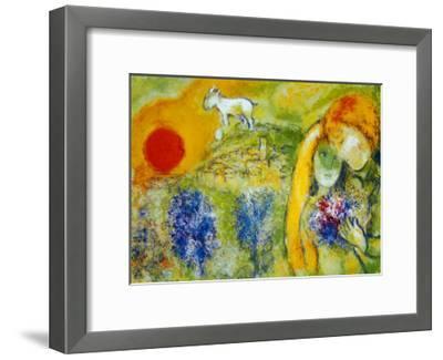 Amoureux de Vence-Marc Chagall-Framed Art Print