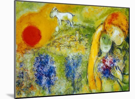 Amoureux de Vence-Marc Chagall-Mounted Print
