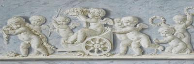 Amours et attributs avec des roses et un char-Piat Joseph Sauvage-Giclee Print