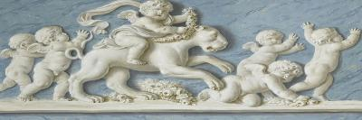 Amours et attributs avec une lionne au centre-Piat Joseph Sauvage-Giclee Print