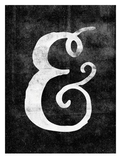 Ampersand Paint Swirl on Blk-Brett Wilson-Art Print