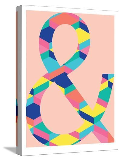 Amperstand on Pink-Ashlee Rae-Stretched Canvas Print