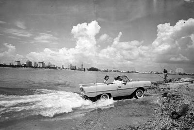 Amphibious Car on Biscayne Bay, C.1960--Photographic Print