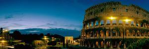 Amphitheater at Dusk, Coliseum, Rome, Lazio, Italy
