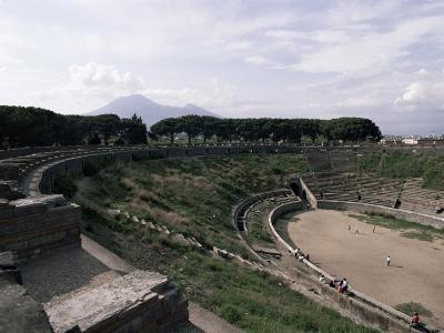 Amphitheatre, Pompeii, Unesco World Heritage Site, Campania, Italy-Christina Gascoigne-Photographic Print
