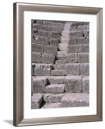 Amphitheatre Terraced Seating from the 3rd Century AD, Butrinti, Albania-R H Productions-Framed Photographic Print