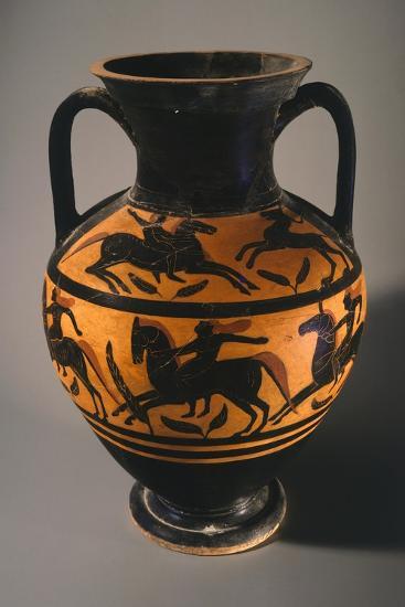 Amphora, Black-Figure Pottery from Vulci--Giclee Print