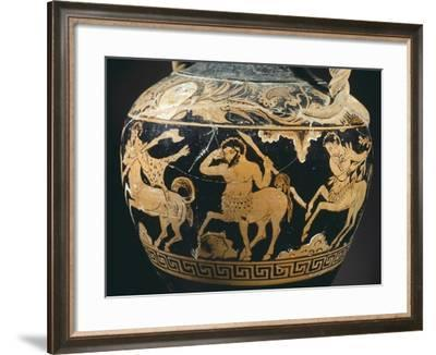 Amphora by the Painter of the Centauromachy--Framed Photographic Print