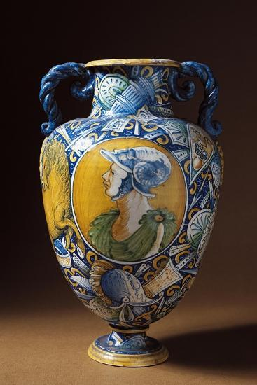 Amphora Decorated with Virile Male Profile, Tuscany, Italy, 16th-17th Century--Giclee Print