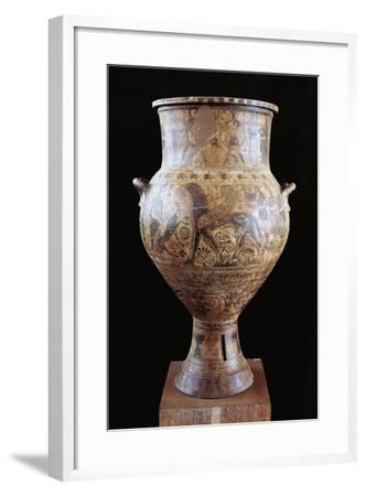 Amphora Depicting Apollo and Artemis--Framed Giclee Print