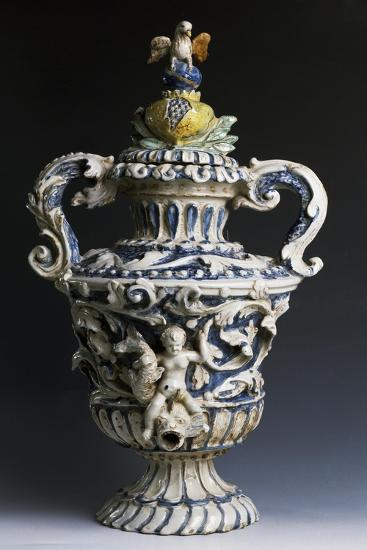 Amphora-Shaped Sacristy Water Vessel, Ceramic, Italy--Giclee Print