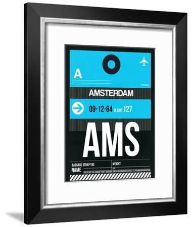 AMS Amsterdam Luggage Tag 1-NaxArt-Framed Art Print
