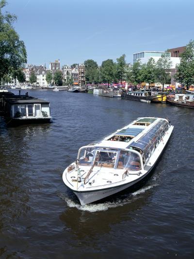 Amstel Canal and Bloumerbrug, Binnen, Amsterdam, Netherlands-Peter Thompson-Photographic Print