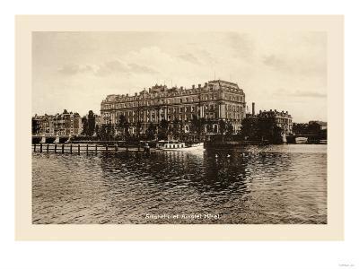 Amstel Met Amstel Hotel, Amsterdam--Art Print