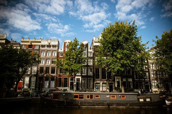 Amsterdam Canal Houses II-Erin Berzel-Photographic Print