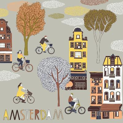 Amsterdam Print Design-Lavandaart-Art Print