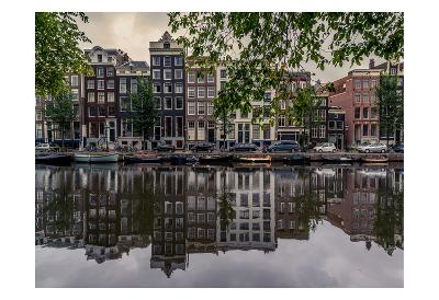 Amsterdam Reflections-Vladimir Kostka-Art Print