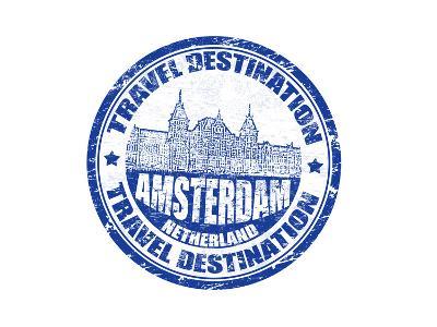 Amsterdam Stamp-radubalint-Art Print