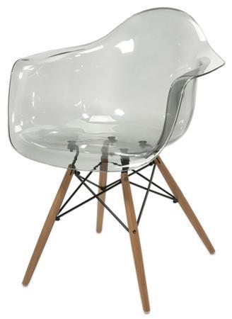 Amsterdam Transparent Chair - Grey