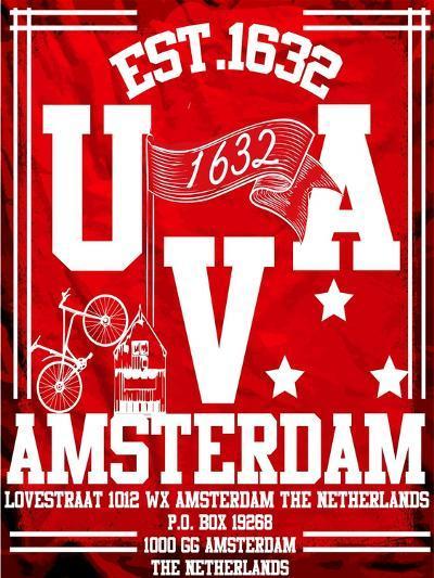 Amsterdam University City Man T Shirt Vector Graphic Design-emeget-Art Print