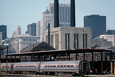 Amtrak Train in Railway Sidings, Chicago Union Station, Illinois, Usa, 1979-Alain Le Garsmeur-Photographic Print