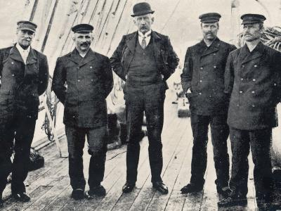 Amundsen and His Team at Hobart--Photographic Print