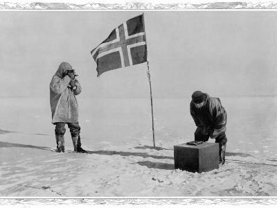 Amundsen Antarctic Expedition at the South Pole, 1911--Photographic Print
