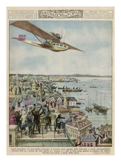 Amundsen in a Dornier--Giclee Print