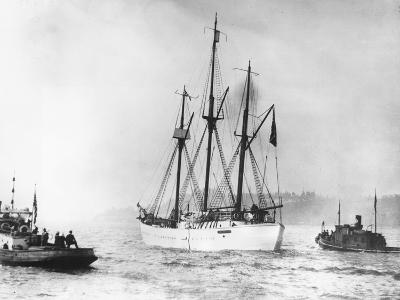 Amundsen's Vessel Returns from the Arctic--Photographic Print