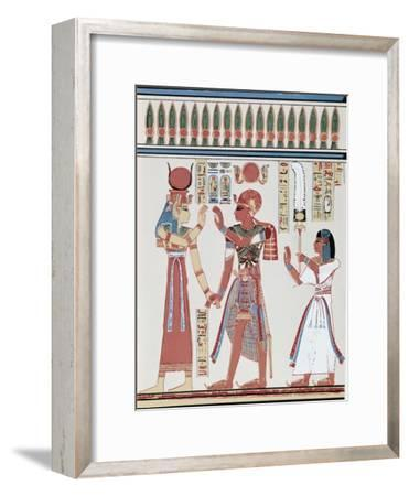 Amunkhepesef Tomb: Wall Paining--Framed Giclee Print