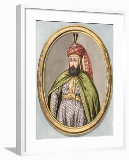 "Amurath IV Sultan 1623-40, from ""A Series of Portraits of the Emperors of Turkey,"" 1808-John Young-Framed Giclee Print"
