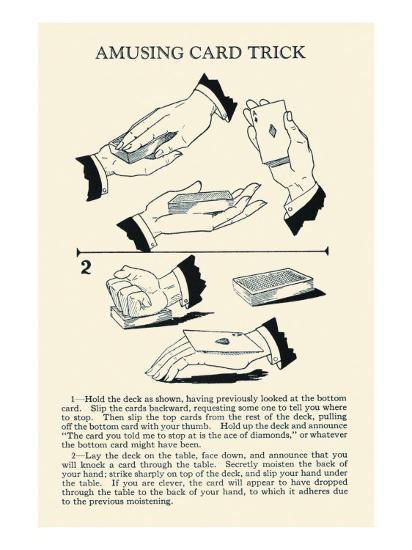 Amusing Card Trick--Art Print