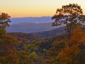 Autumn Scene in the Blue Ridge Mountains by Amy & Al White & Petteway