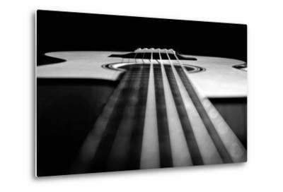 Close Up a Steel String Acoustic Guitar Built by Luthier John Slobod