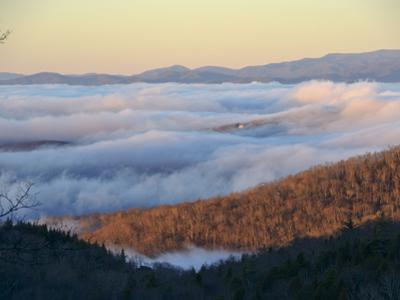 Clouds Fill a Mountain Valley in the Blue Ridge Mountains by Amy & Al White & Petteway