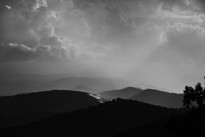 Sunlight Through the Clouds Over the Blue Ridge Mountains by Amy & Al White & Petteway